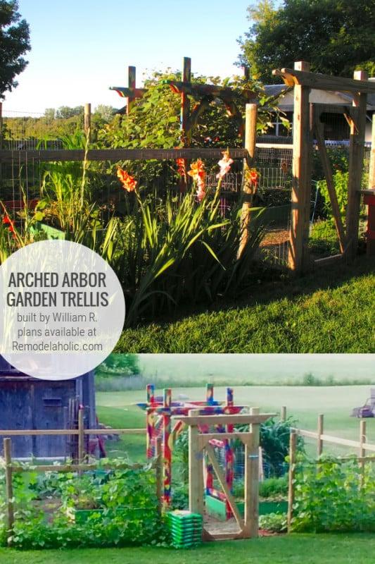 DIY Garden Arbor Vegetable Trellis In Gated Garden Area, Built By William R Plans Remodelaholic