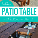 DIY Patio Table With Built In Drink Cooler Ice Boxes, Remodelaholic