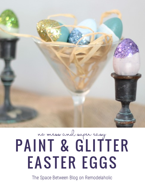 Easter Egg Ideas, Paint And Glitter On Remodelaholic