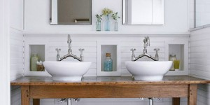 Get This Look - Tips for a Rustic White Bathroom