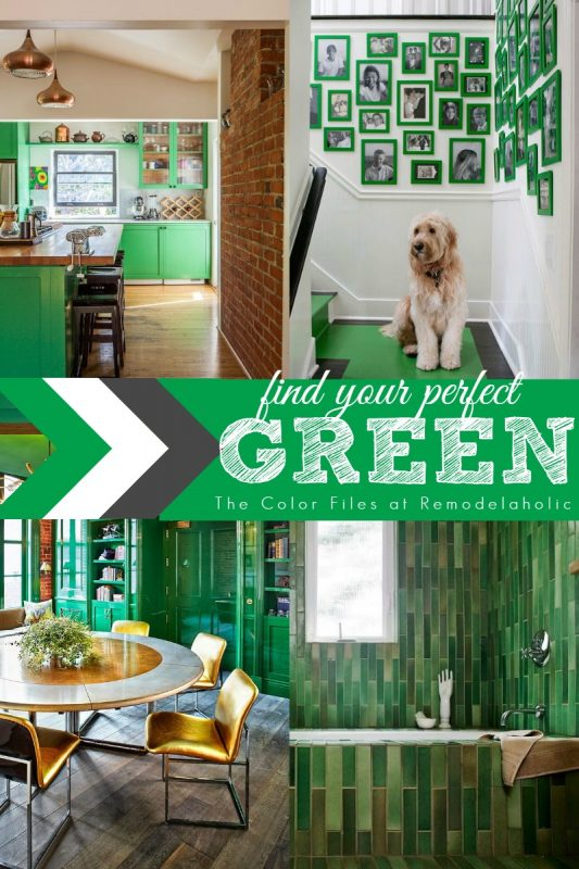 Green Home Inspiration via Remodelaholic.com