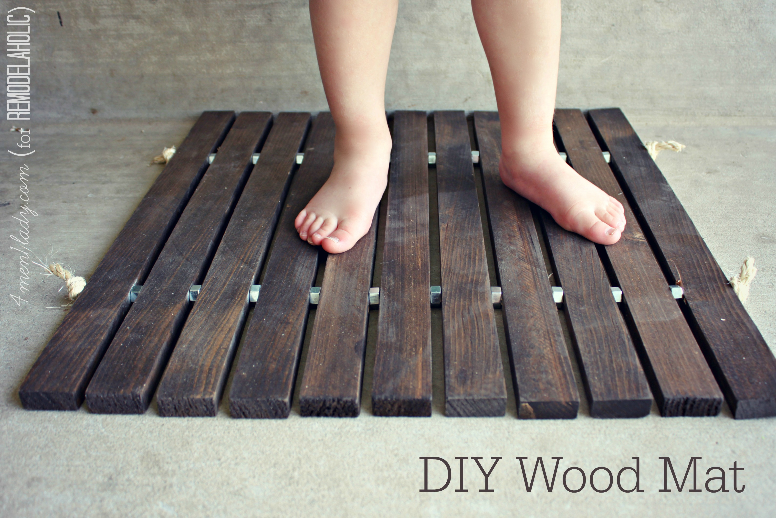 build your own wooden door mat