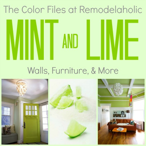 Mint Green Color remodelaholic | color crush ~ decorating with mint green