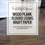 Paper Painted Faux Wood Floors DIY Project By Freckle Faced Girl For Remodelaholic.com (1)