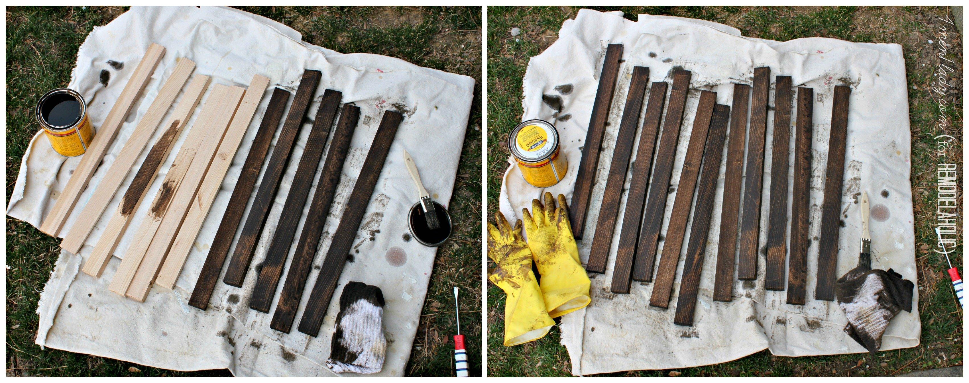 Remodelaholic | DIY Wood Stake Door Mat