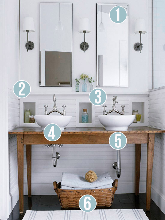 White Rustic Bathroom remodelaholic | get this look: contemporary rustic white bathroom