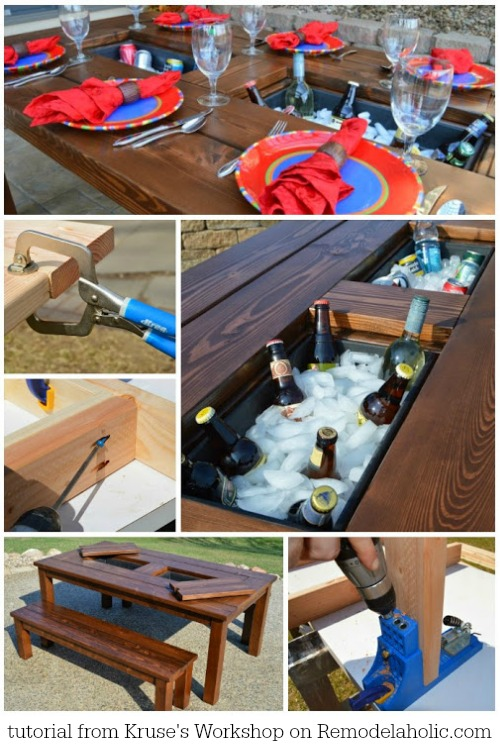 Tutorial-for-this-awesome-DIY-patio-table-with-drink-coolers-Kruses-Workshop-on-@Remodelaholic