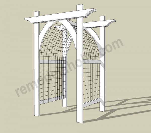 Vegetable Garden Arbor DIY Plans 2