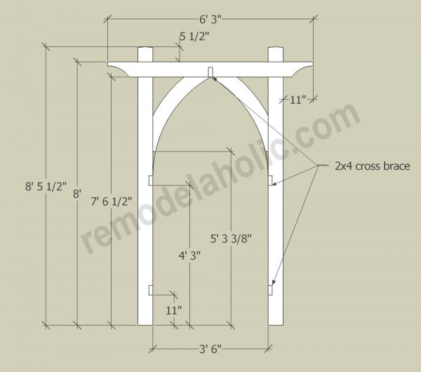 Vegetable Garden Arbor DIY Plans 3
