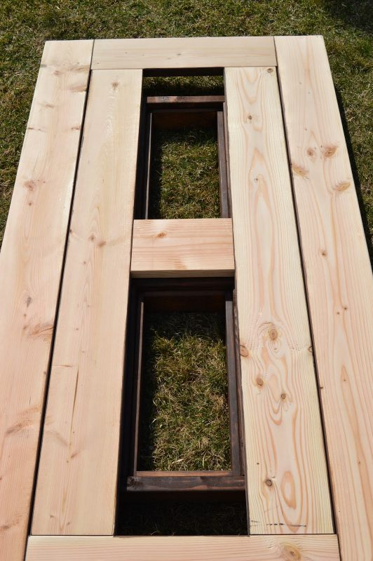 add skirting to ice box frames on patio table 3, Kruse's Workshop on Remodelaholic