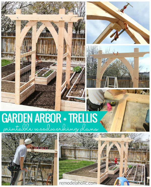 Arched Vegetable Garden Arbor Diy Woodworking Plans #remodelaholic