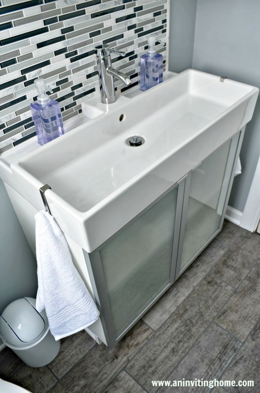 beautiful and functional modern family bathroom, An Inviting Home on Remodelaholic