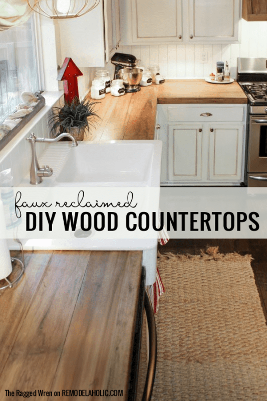 Budget Friendly Diy Wooden Kitchen Countertops, By The Ragged Wren Featured On @Remodelaholic