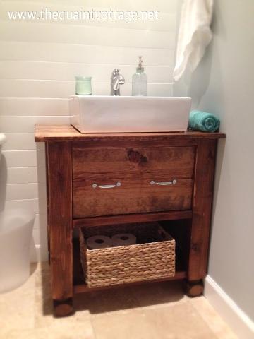 build an open bathroom vanity