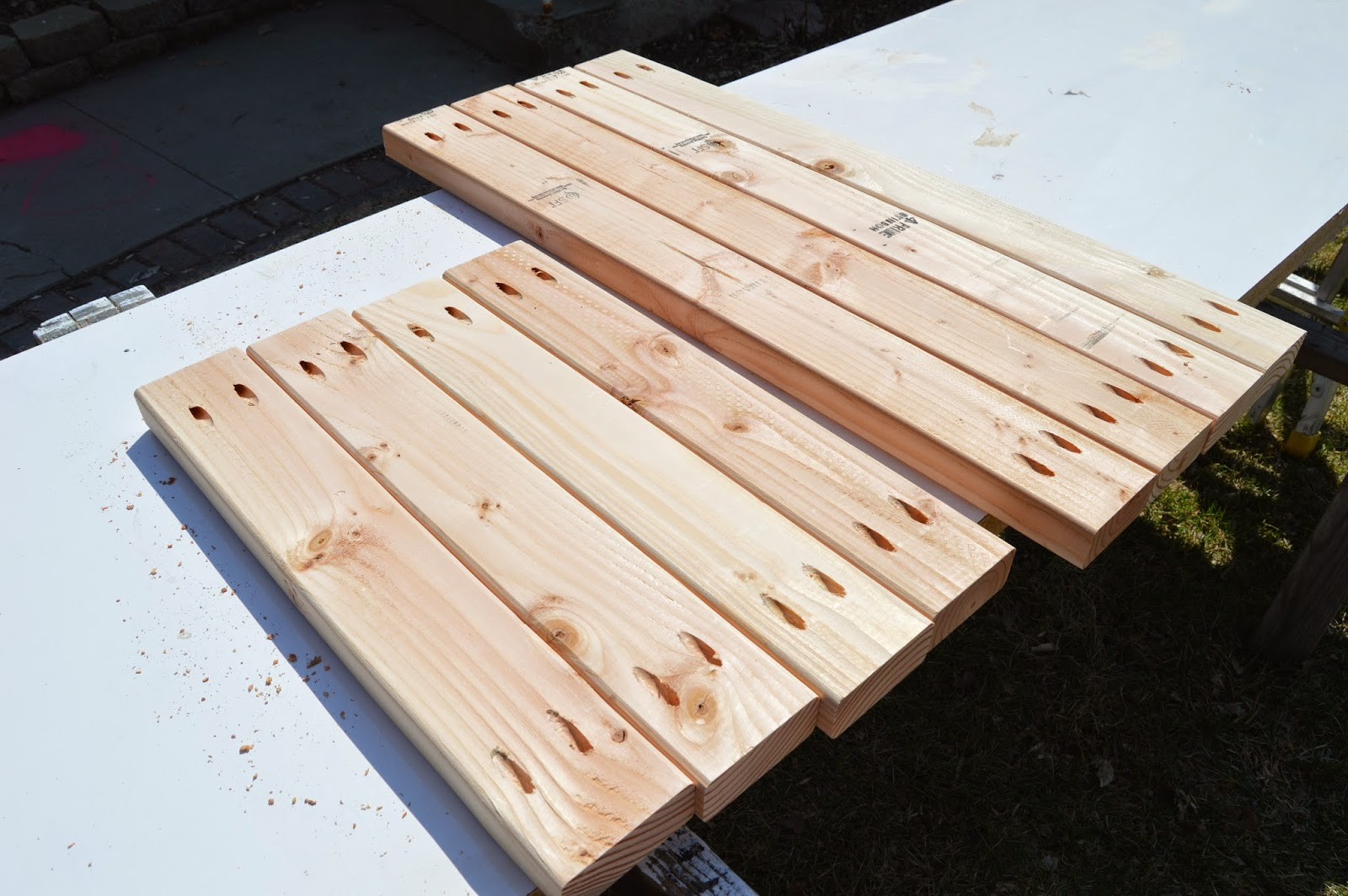 Build A Patio Table With Built In Ice Boxes | Remodelaholic | Bloglovinu0027