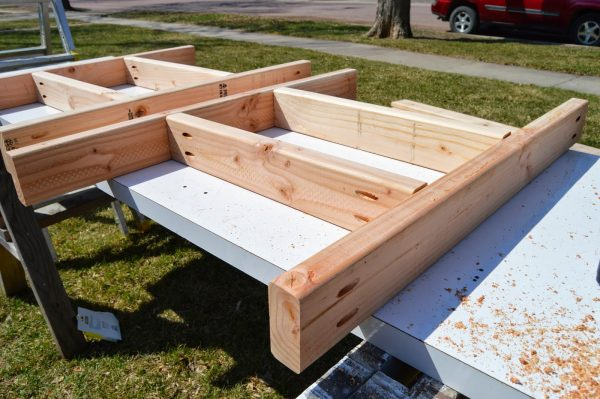 build patio table ice box frames 3, Kruse's Workshop on Remodelaholic