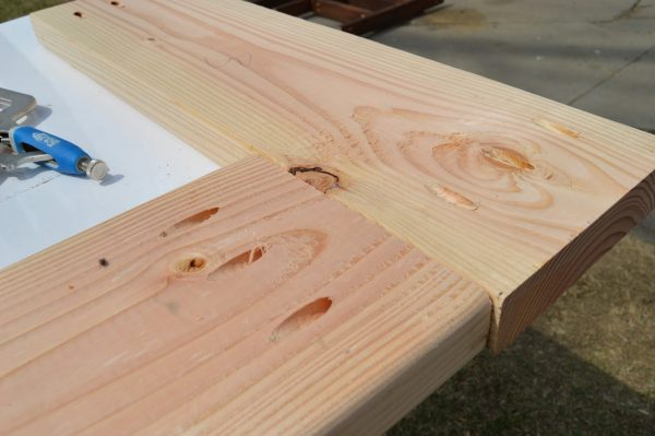build patio table top with ice box 04, Kruse's Workshop on Remodelaholic