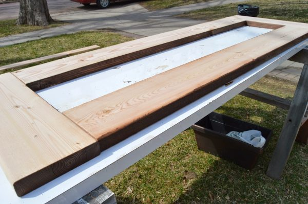 build patio table top with ice box 07, Kruse's Workshop on Remodelaholic