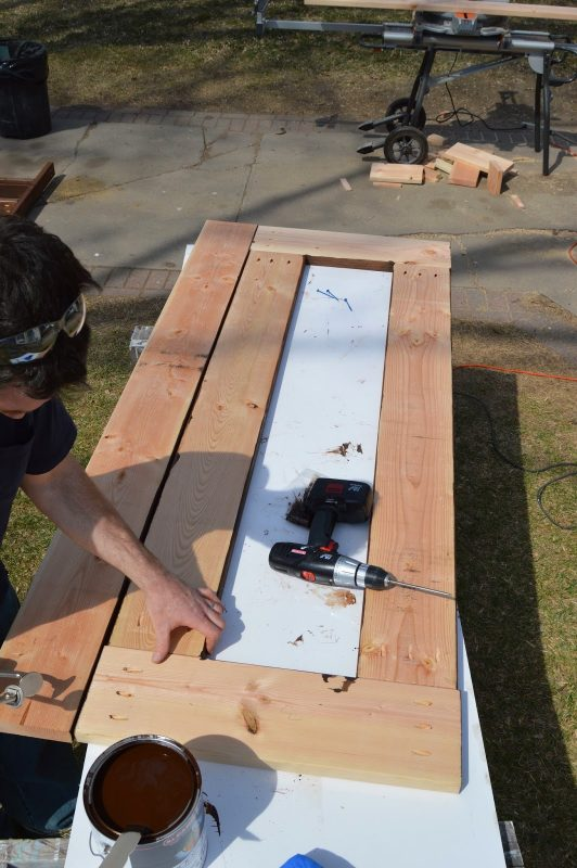 build patio table top with ice box 08, Kruse's Workshop on Remodelaholic