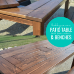 Build Your Own DIY Patio Table And Benches, Dining Table With Drink Coolers, Remodelaholic
