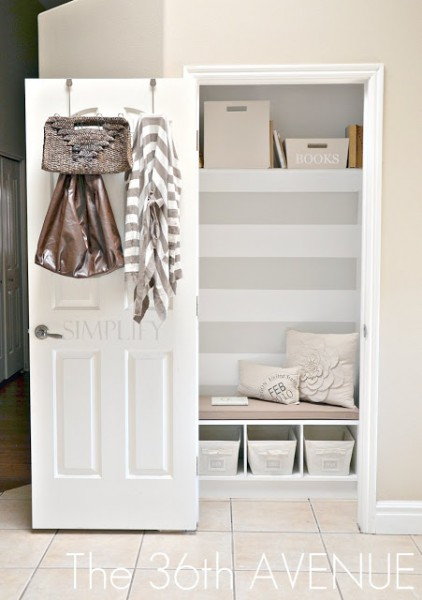 Remodelaholic Get This Look Small Space Mudroom Under