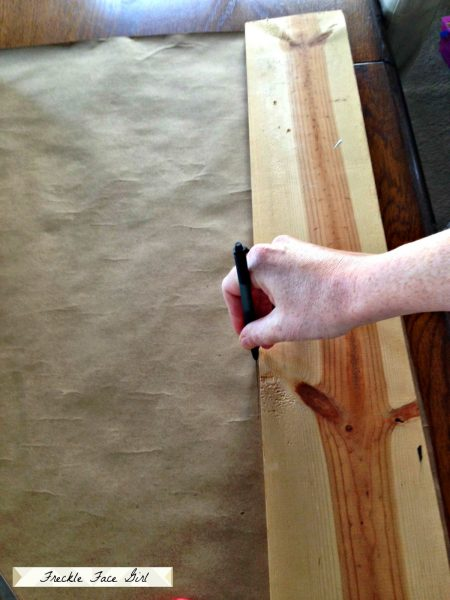 creating faux wood planks for floor, Freckle Face Girl for Remodelaholic