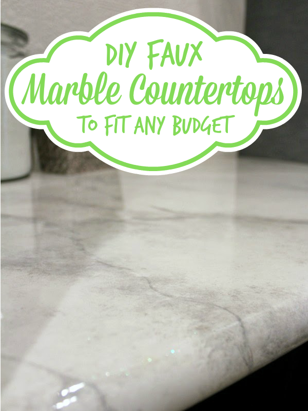 DIY Faux Marble Countertops    Looks Like The Real Thing At A Fraction Of  The