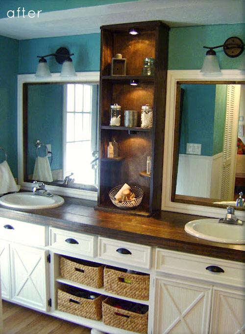 farmhouse bathroom renovation, via Design Sponge