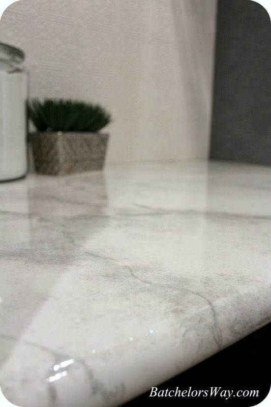 Faux Black And Gray Marble Kitchen Tables