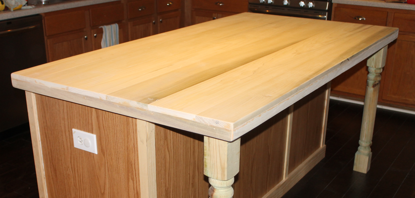 diy kitchen island countertop remodelaholic how to create faux reclaimed wood countertops 6847