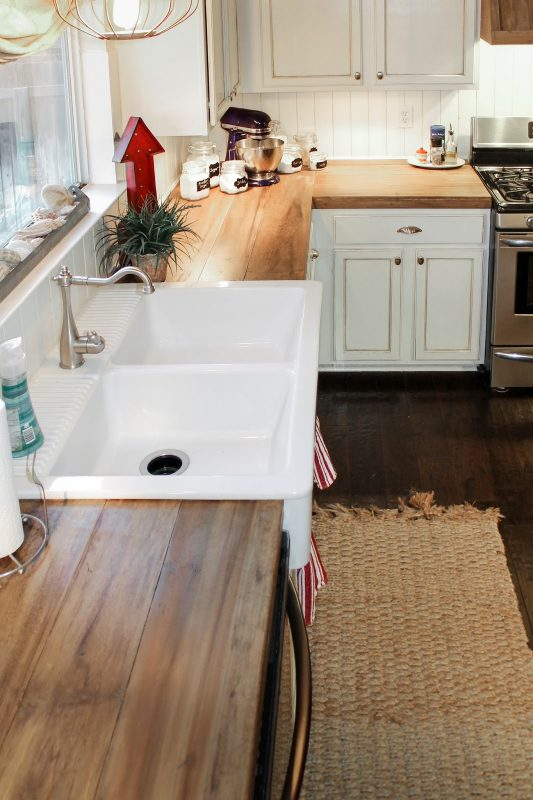 Faux Reclaimed Wood Kitchen Counters The Ragged Wren On Remodelaholic Com