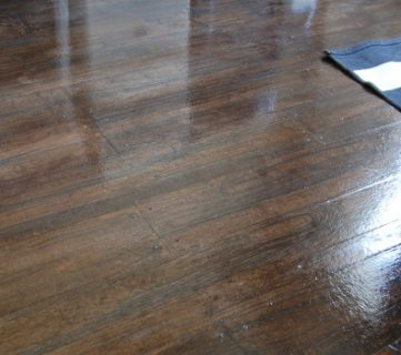 Faux Wood Plank Floors Using Brown Paper
