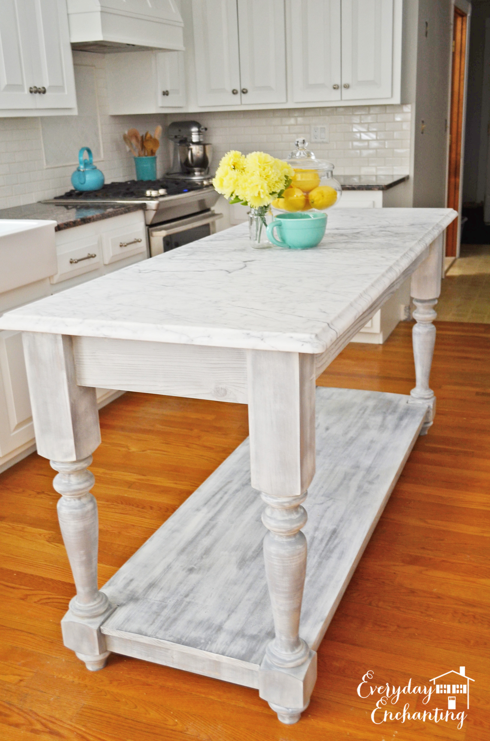 marble kitchen island everyday enchanting on