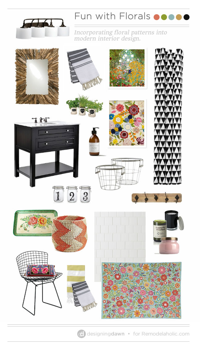 fun with florals via Remodelaholic.com