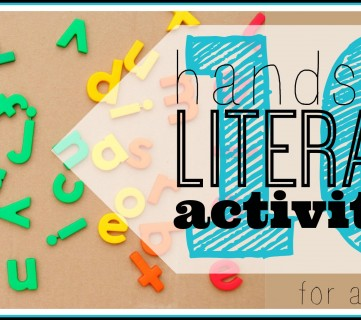 10 Hands-on literacy activities for ages 6-9 ~ Tipsaholic.com #literacy #kids #school