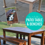 How To Build A Patio Table And Benches For Outdoor Dining, Remodelaholic
