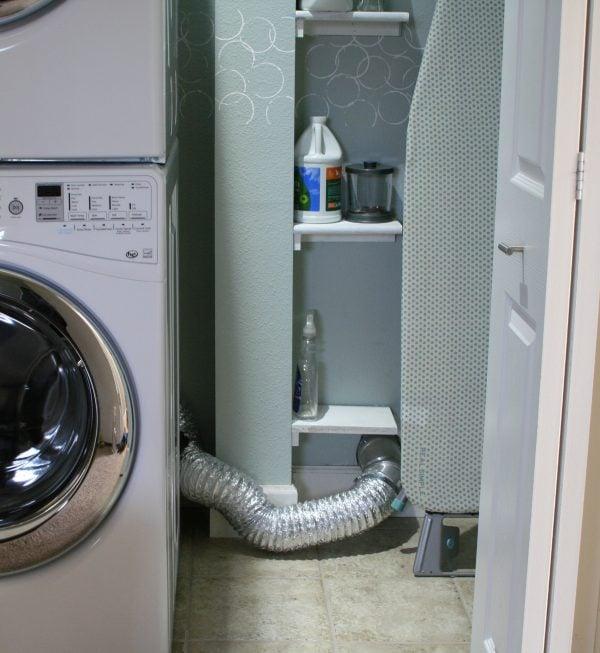 how to hide dryer vent ducting, Love Melinda on Remodelaholic