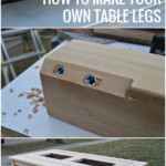 How To Make Your Own Table Legs From 4x4 Posts, Kruse's Workshop On Remodelaholic