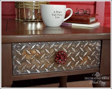 industrial metal side table
