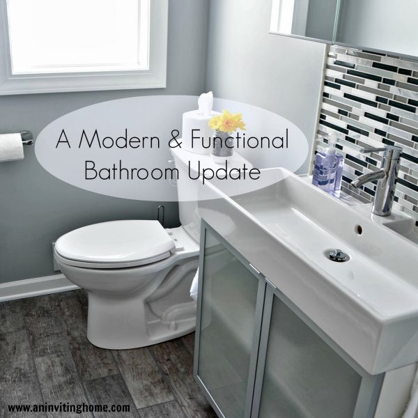 modern and functional bathroom update, An Inviting Home on Remodelaholic