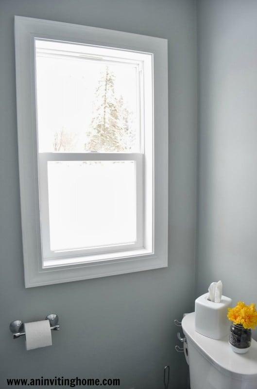 remodelaholic modern bathroom update. Black Bedroom Furniture Sets. Home Design Ideas