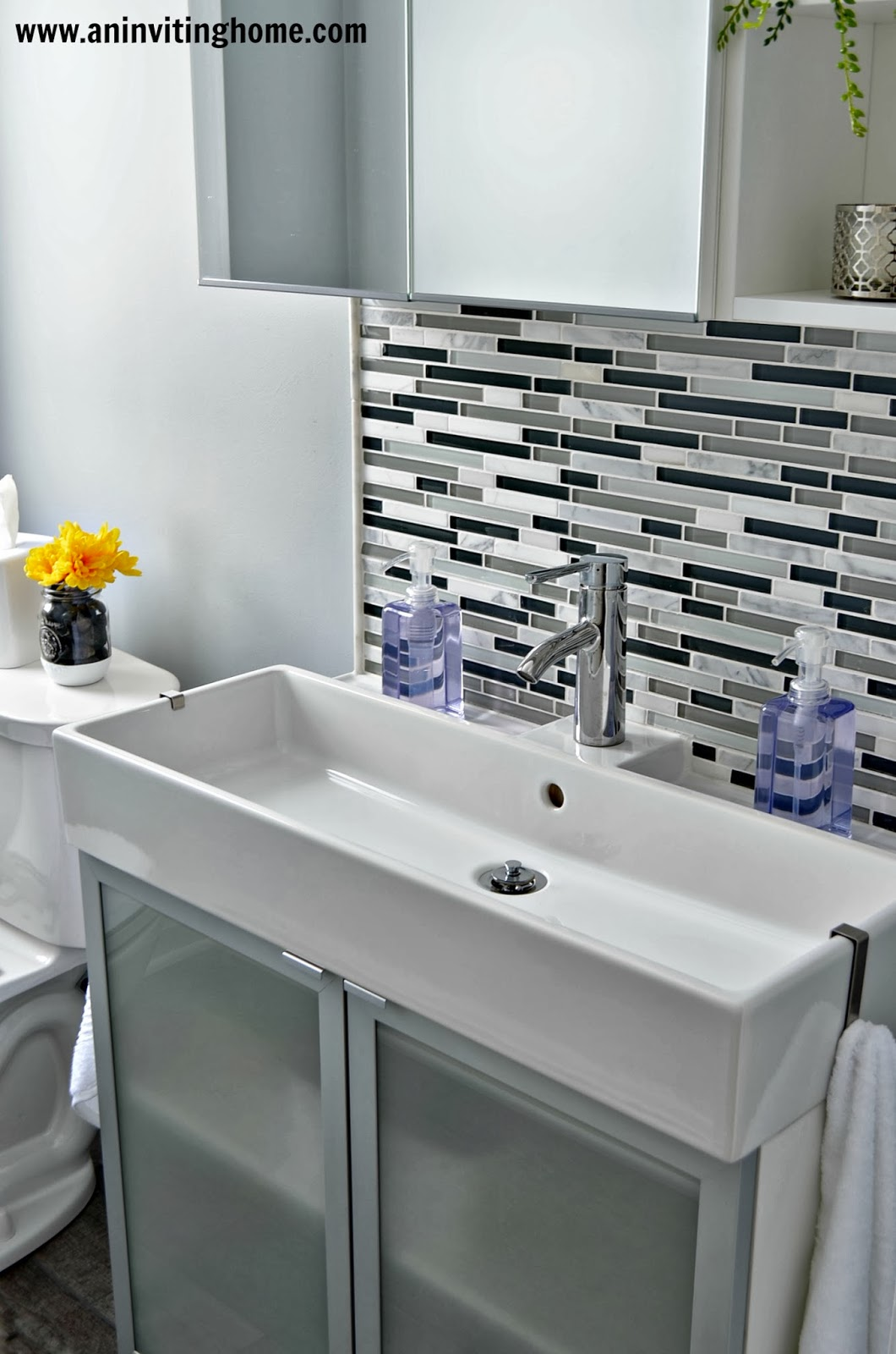 Remodelaholic modern bathroom update - How to decorate your bathroom ...