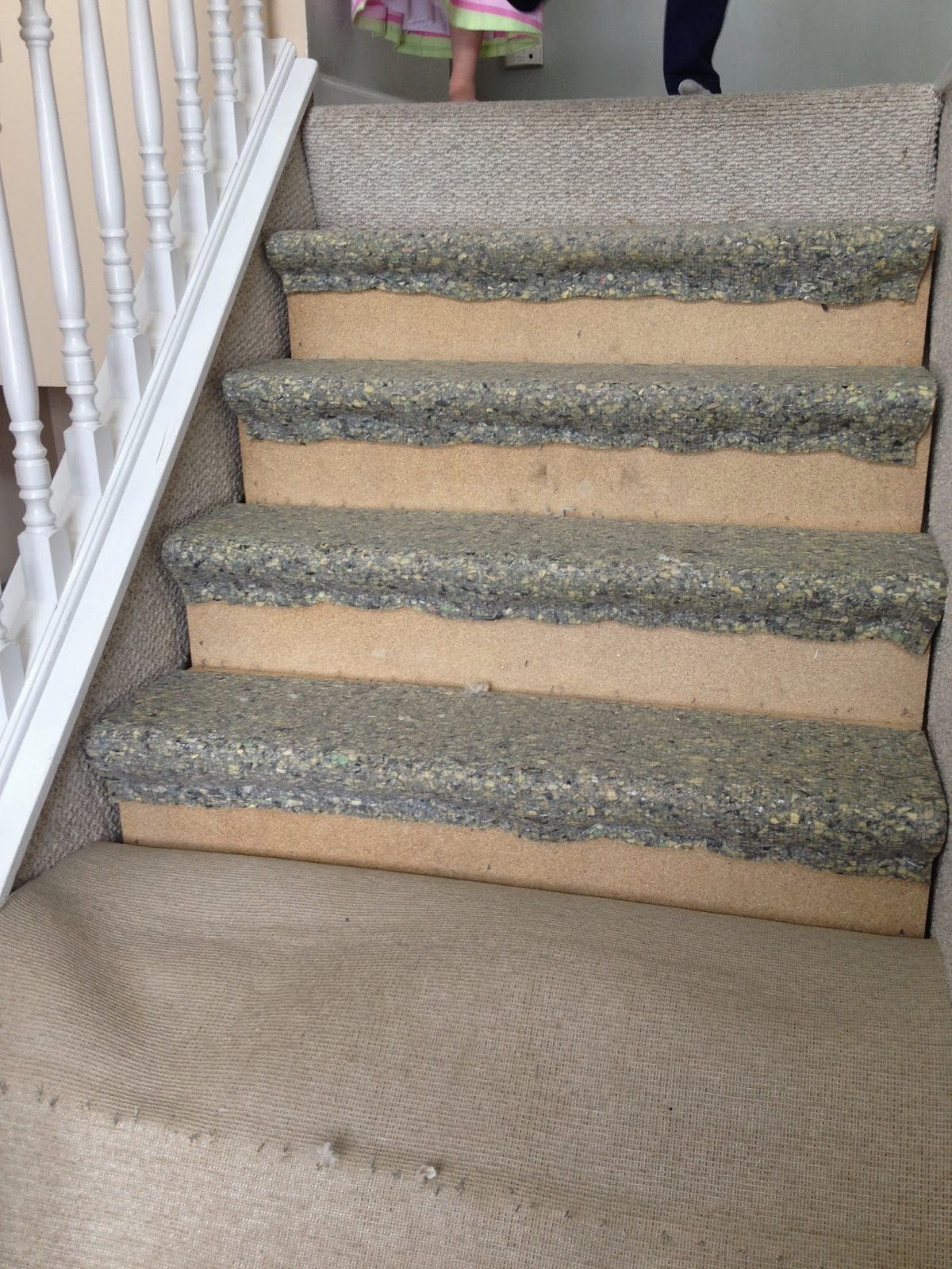 Remodelaholic : $60 Carpet to Hardwood Stair Remodel