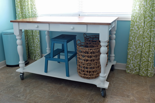 How To Turn A Table Into A Rolling Island Teal U0026 Lime For View In Gallery Traditional Style Laundry Room Folding