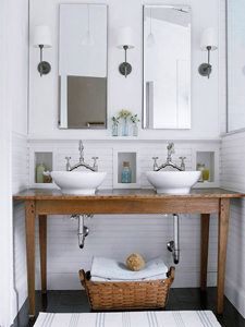 rustic white bathroom thumb