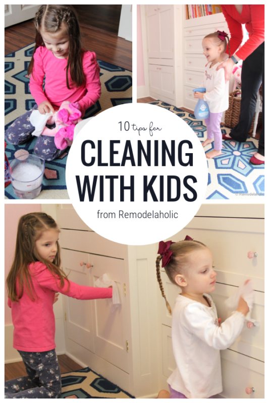 Ten Tips For Cleaning With Kids From Remodelaholic