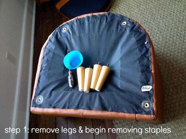 tub chair step 1
