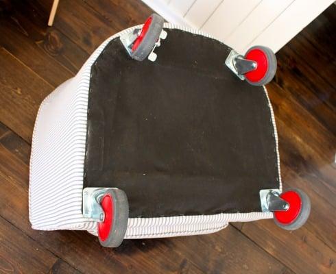 Merveilleux Tub Chair Wheels Attached