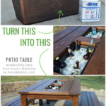 Turn A Planter Box Into A Drink Cooler For A Patio Table, Woodworking Plans Remodelaholic