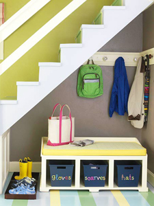under-stairs mudroom thumb